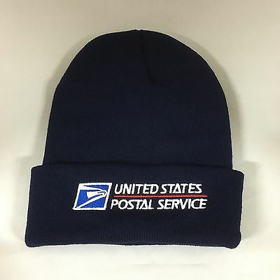 1fdc91ab USPS Beanie Decky Custom Embroidery Cuffed Knit United State Postal Service  NAVY