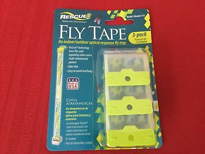 Rescue Fly Tape 3 Pack Free Ship Fly Strip Fly Trap Business & Industrial Animal Health & Veterinary