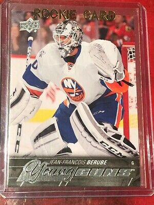 2015-16 Upper Deck Young Guns Jean-Francois Berube Rookie Card New York Isles