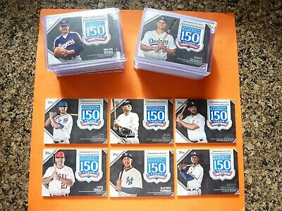 2019 Topps Series 1 & 2, 150th Anniversary Patch, Complete Your Set, U-Pick