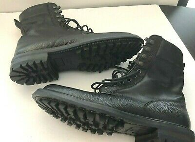 Rag & Bone Black Combat Boots Men's Size 8.5 Pebbled Leather Euro 41.5 New