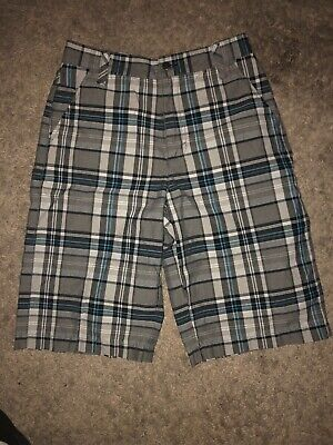 6df0c593cf Tony Hawk Boys Kids Plaid Board Shorts Size 14 Longer Length