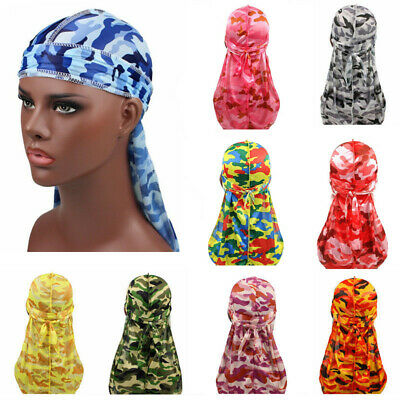 Home The Cheapest Price New Silk Long Tail Scarf Cap Mens Satin Durags Bandanna Turban Wigs Men Silky Durag Headwear Pirate Hat