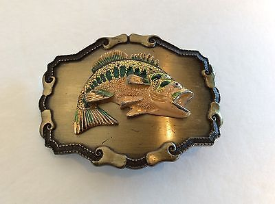 VINTAGE 1977 or 1978 RAINTREE LARGE MOUTH BASS  FISHING BELT BUCKLE