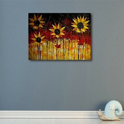 Canvas Abstract Sunflower Oil Painting Modern Home Wall Decor Art Poster Picture