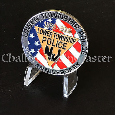 B80 Lower Township New Jersey Police Department Challenge Coin