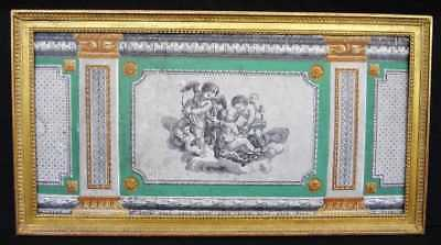 A Framed French Neoclassical Louis Xvi Style Wallpaper Panel, 19Th Century