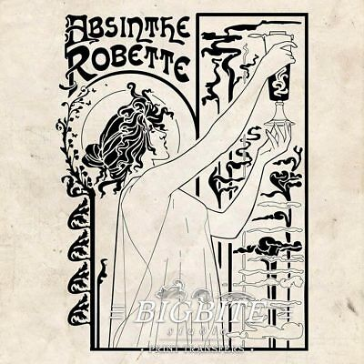 WATER DECAL: Art Deco Absinthe Robette Advert (Furniture Print Transfer) #076