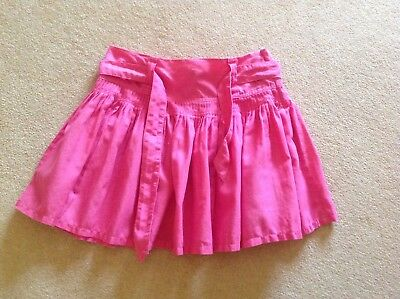 NEXT Girls Lovely Cerise Pink Skirt, Age 13 Years.Linen & Cotton.