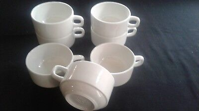 Lot 7 Grandes Tasses A Cafe / Chocolat Empilables - Anciens Vintage