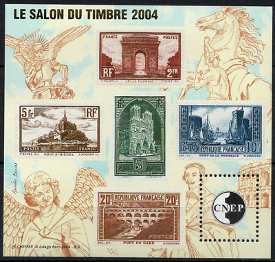 TIMBRE FRANCE BLOC CNEP n°41 NEUF**  ' Les Timbres semi moderne ' Salon 2004