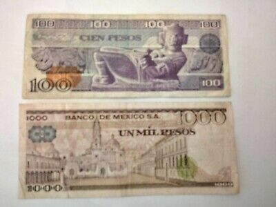 Various Circulated Older Version Mexico Bank Notes. Ideal For An Avid Collector.