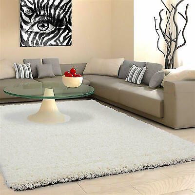 5cm HIGH PILE SMALL EXTRA LARGE PREMIUM QUALITY NON SHED THICK SHAGGY RUG CREAM