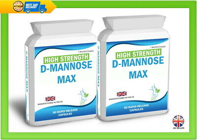 D Mannose 180 Capsules Supports Healthy Urinary Tract Cystitis Relief UTI