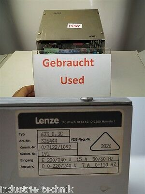 Lenze 630 Frequency Converter 633 E 3c 326444 Inverter 633e3c