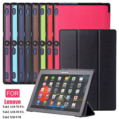 """For Lenovo Tab 2 A10-70F/A10-30F X30F 10.1"""" Tablet Fold PU Leather Case Cover"""