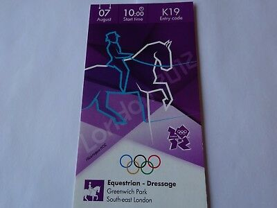 London 2012 Olympic Games EQUESTRIAN DRESSAGE ticket 7th August GB GOLD !