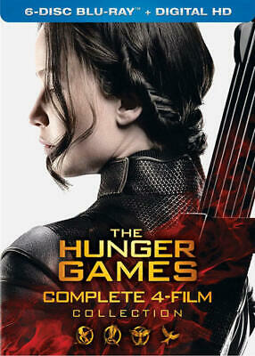 The Hunger Games: Complete 4 Film Collection (6 Disc) BLU-RAY NEW