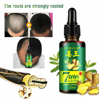 ReGrow 7Day Ginger Germinal Hair Growth Serum Hairdressing Oil Loss Treatement
