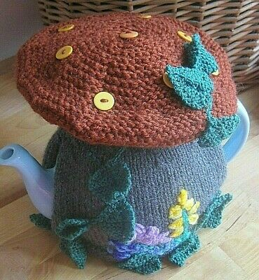 Hand Knitted Magical Woodland Toadstool Tea Cosy. Easter Gift?