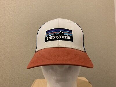 d43377e1a4901 Vintage Patagonia Red White Blue Embroidered Adjustable Snapback Trucker Hat  Cap