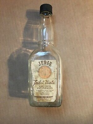 Rare HTF Jeris Toilet Water Like Fresh Cut Flowers Bottle Barber After Shave