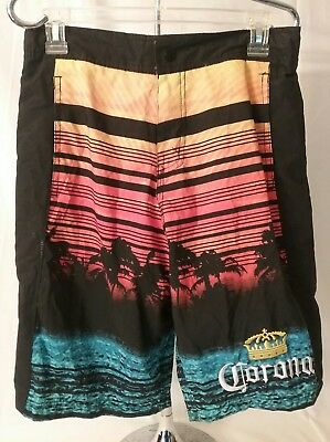 837f50d449 NWOT Corona Beer Mens Board Shorts Trunks Swim Sunset Palm Trees size Small