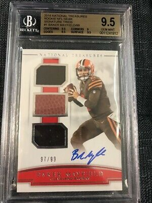 timeless design 489f0 507a6 BAKER MAYFIELD 2018 National Treasures Rc Signature Trio ...