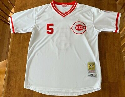 a7d8d3a34 CINCINNATI REDS JOHNNY Bench MLB Jersey Cooperstown Collection L NWT ...