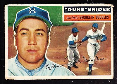 1956 Topps #150 Duke Snider Brooklyn Dodgers Gray Back
