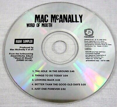 Mac Mcanally 1999 Word Of Mouth Promo Sampler CD Country Music Raro Mt /NM
