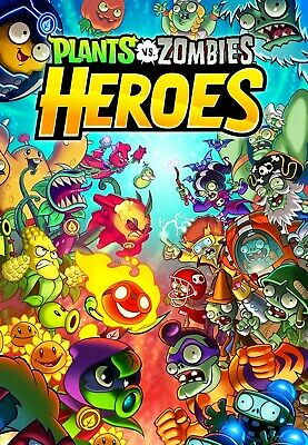 Plants vs Zombies Heroes Game Poster Art - 11x17 13x19 - NEW