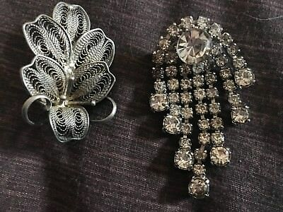 Women's Set Of 2 Broaches Costume Jewellery Pins Accessories
