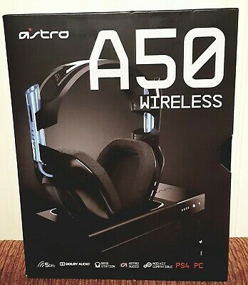NEW IN BOX Astro A50 Wireless Dolby Audio Headset w/ Base Station for PS4 & PC