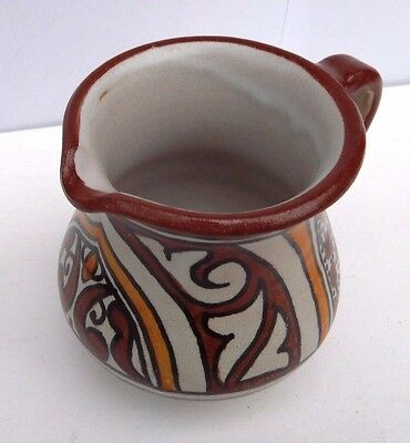 Hand Painted Multi Colour Ceramic  Milk Jug * Water Pitcher * Fes Pottery