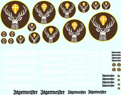 Scalextric 1/32 Scale Jagermeister Decal Sheet