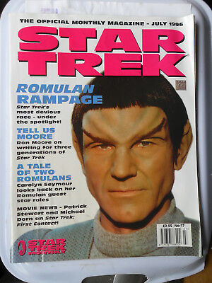 STAR TREK MONTHLY MAGAZINE No 17 ROMULANS TAL SHIAR PICARD NEXT GENERATION
