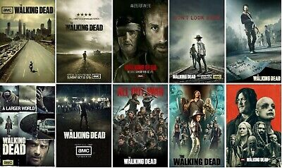 The Walking Dead Poster Collection Set Season 1 2 3 4 5 6 7 8 9 10 - NEW - 13x19