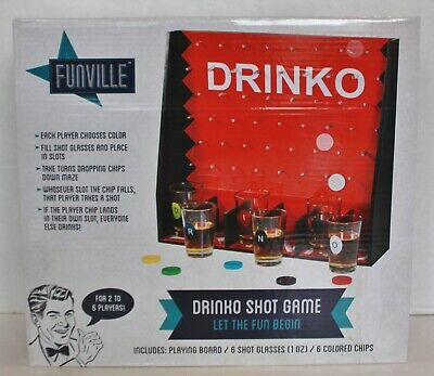 NIB Drinko Shot Adult College Beer Liquor Drinking Party Board Game