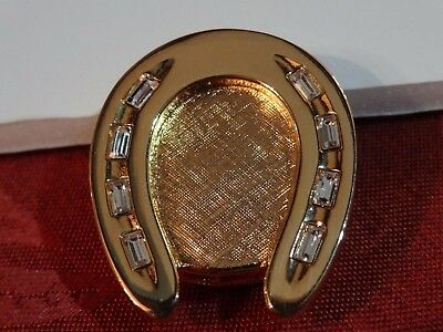 "ESTEE LAUDER ""Golden Horseshoe"" SOLID PERFUME COMPACT Beautiful 2013"