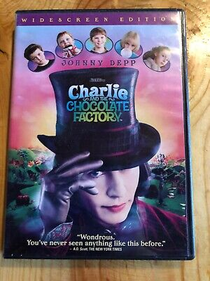 Charlie and the Chocolate Factory (DVD, Widescreen) Disc And Case