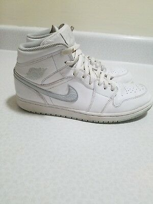 buy popular a6011 a52ef Men s Air Jordan Retro 1 Mid Retro White Pure Platinum White 554724 108