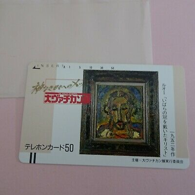 The Great Vatican exhibition 1987  Limited Phone Card NTT Japan Unused Rouault