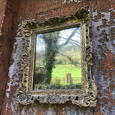 Early Victorian gilded gesso foxed mirror. Excellent Condition