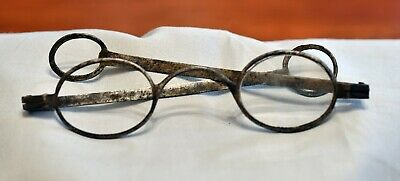 Late 18Th Century Spectacles, Made Of Iron With Large Round Loops At The End