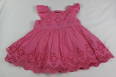 BABY GAP 3-6 mos baby girl PINK EYELET DRESS NWT