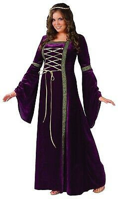Renaissance Lady Maid Marian Medieval Game of Thrones Women Costume Plus