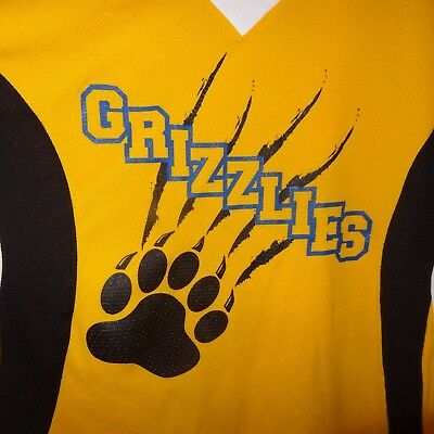 Grizzlies Jersey Yellow Black Bear Claw Marks Player Ring 13 Size Medium