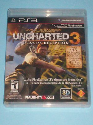UNCHARTED 3: Drake's Deception Game of the Year Ed. (Sony PlayStation 3)