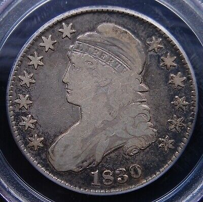 1830 Capped Bust Half Dollar Pcgs Fine 12 Small 0 Nice And Natural Circ